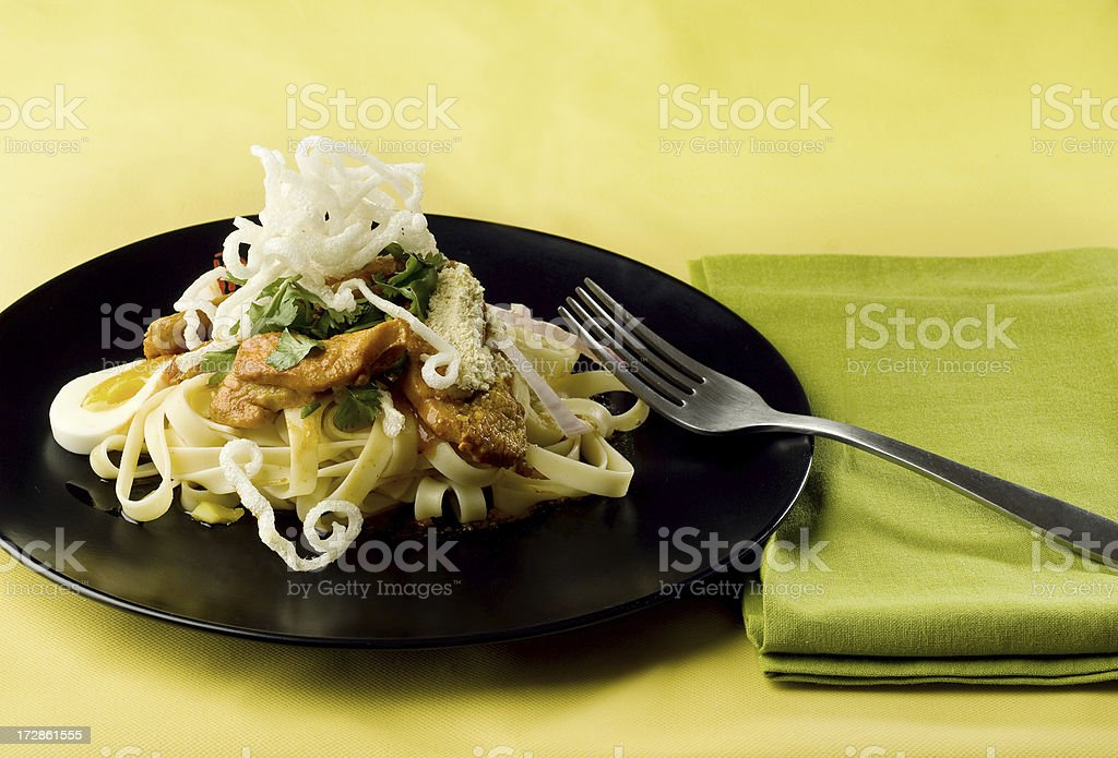 Asian noodle salad. royalty-free stock photo