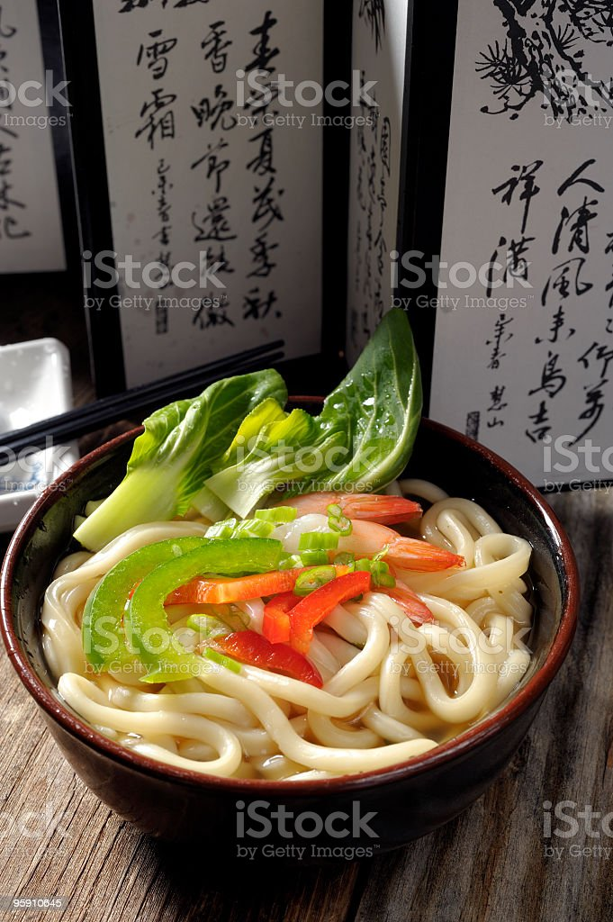 Asian Noodle,Udon royalty-free stock photo