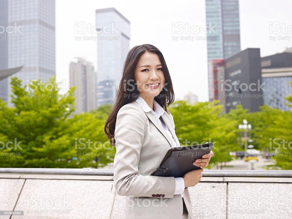 asian office lady stock photo