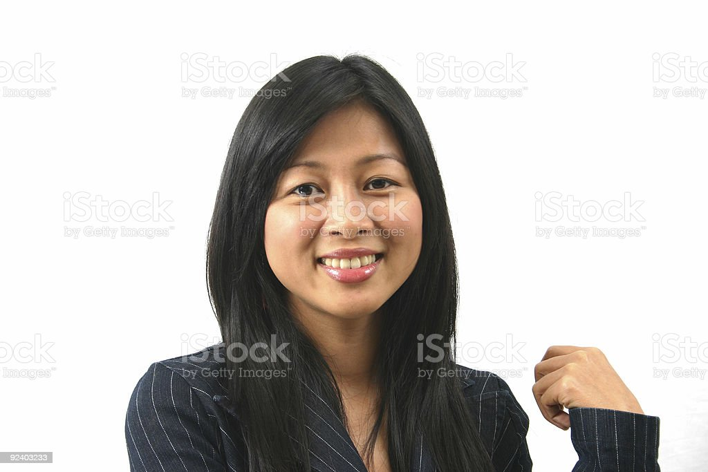 asian office worker 5 royalty-free stock photo