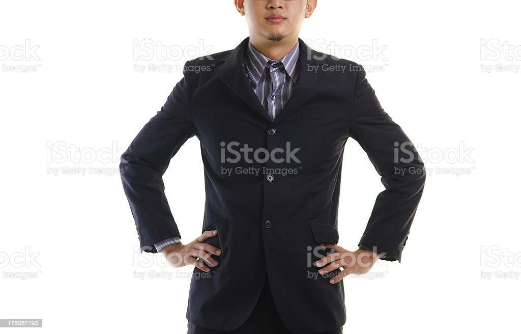 asian on coat royalty-free stock photo