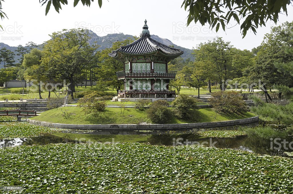 Asian palace or temple pagoda stock photo