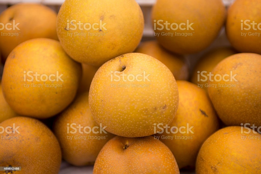 Asian Pear Background stock photo