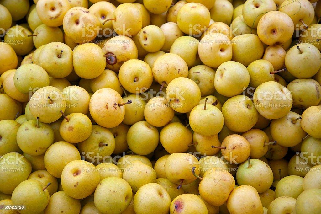 asian pears stock photo