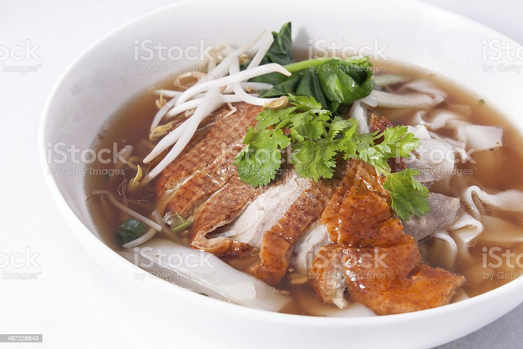 Asian Peking Duck noodle soup royalty-free stock photo