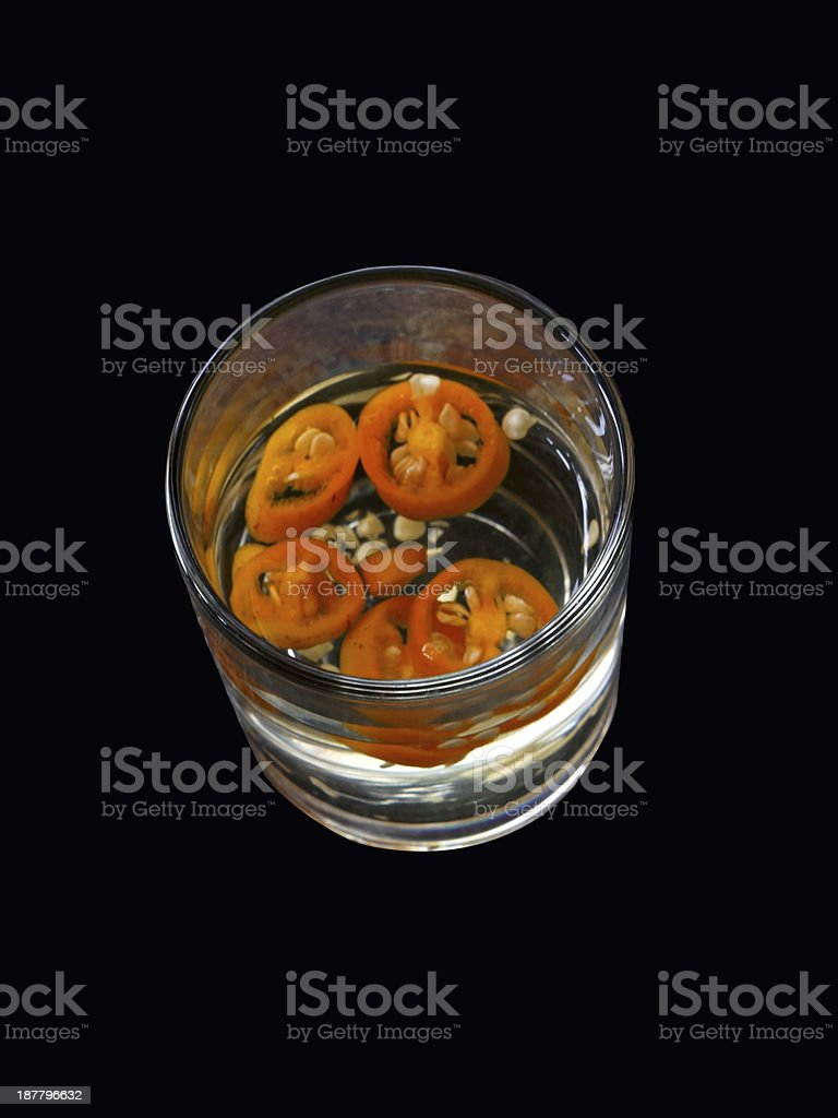 Asian pickled yellow chilies royalty-free stock photo