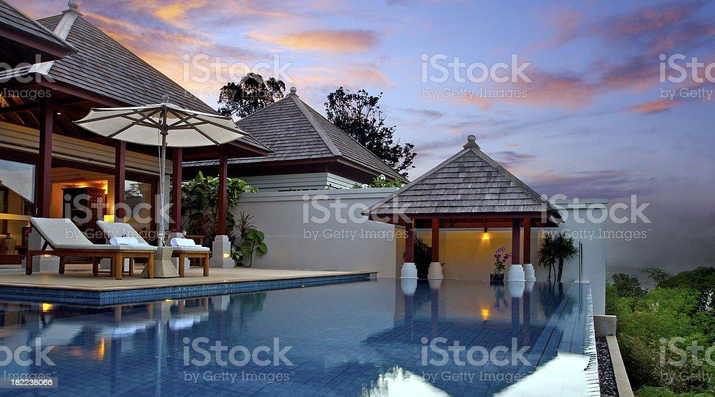 Asian Pool Villa stock photo