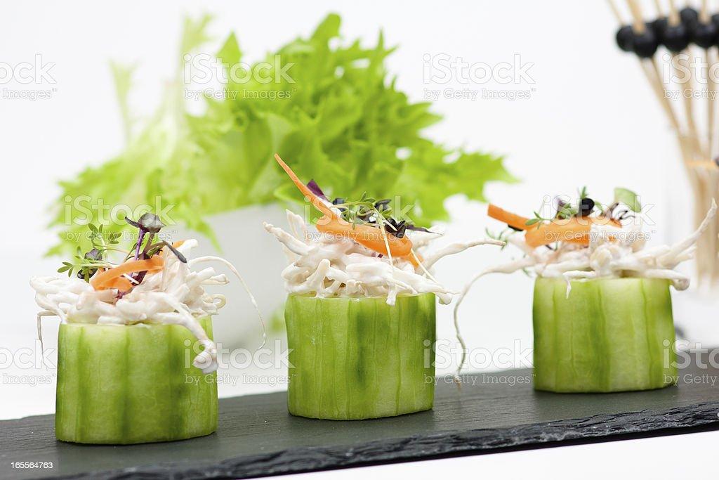 asian salad snack stock photo