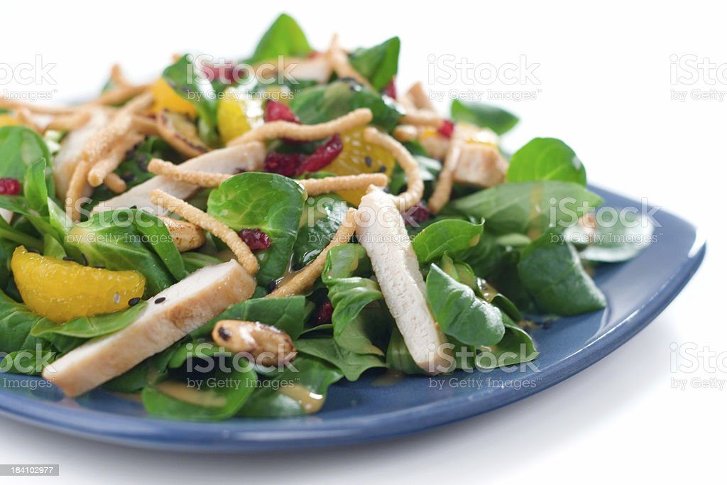 Asian Salad with Chicken stock photo