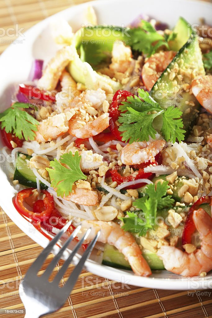 Asian salad with noodles royalty-free stock photo