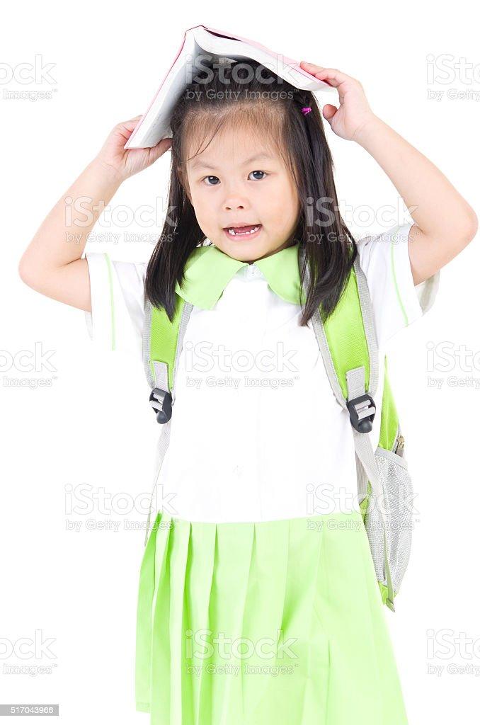 Asian school girl stock photo