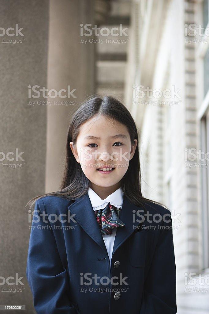 asian schoolgirl royalty-free stock photo