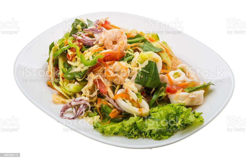Asian seafood salad royalty-free stock photo