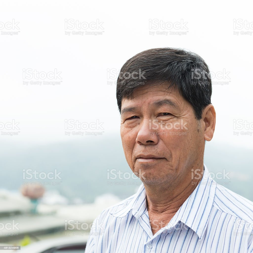 Asian senior citizen stock photo