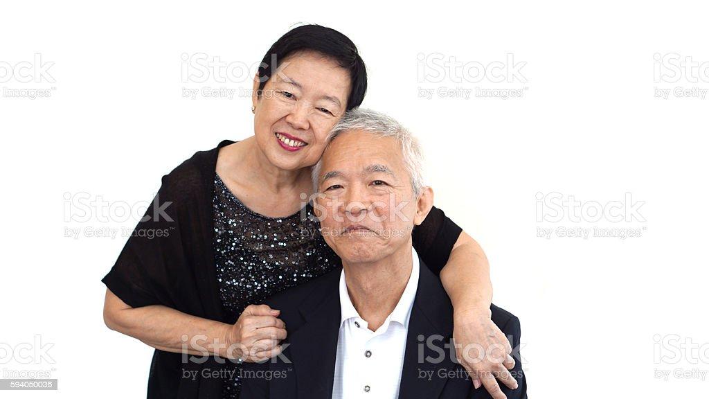 Asian senior partner in formal attire. Love life family business stock photo