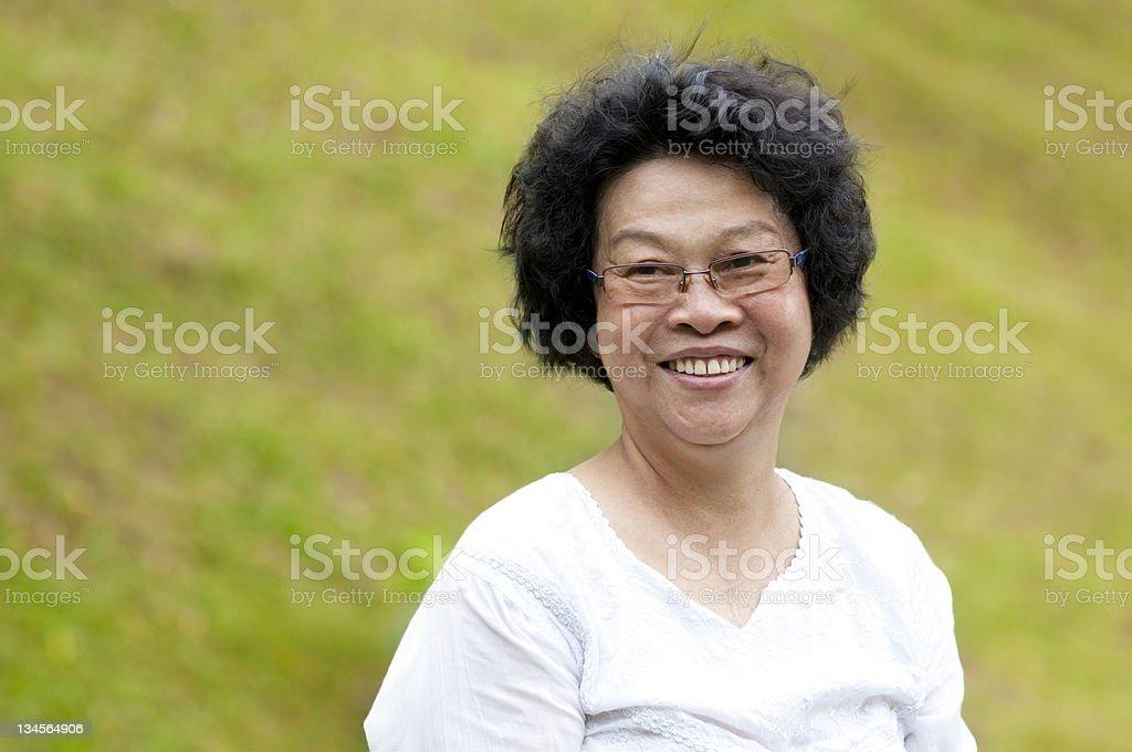 Asian senior woman royalty-free stock photo