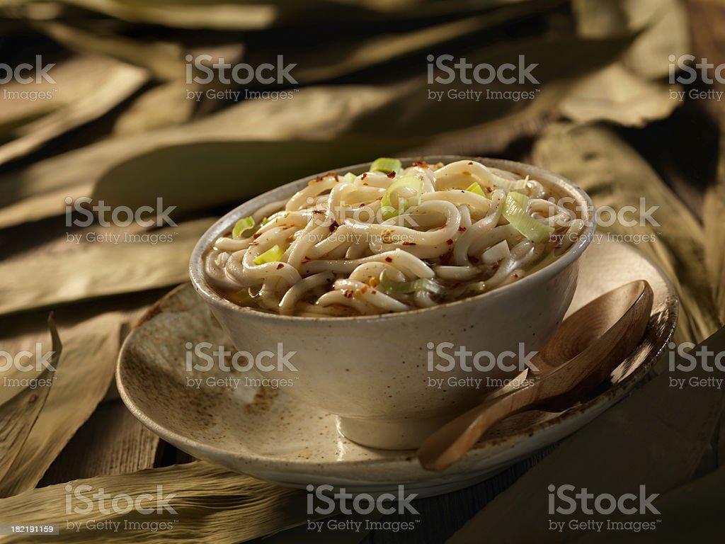 Asian Shanghai Noodle Soup stock photo