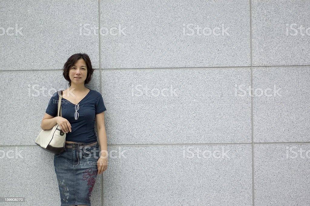 asian shopper stock photo