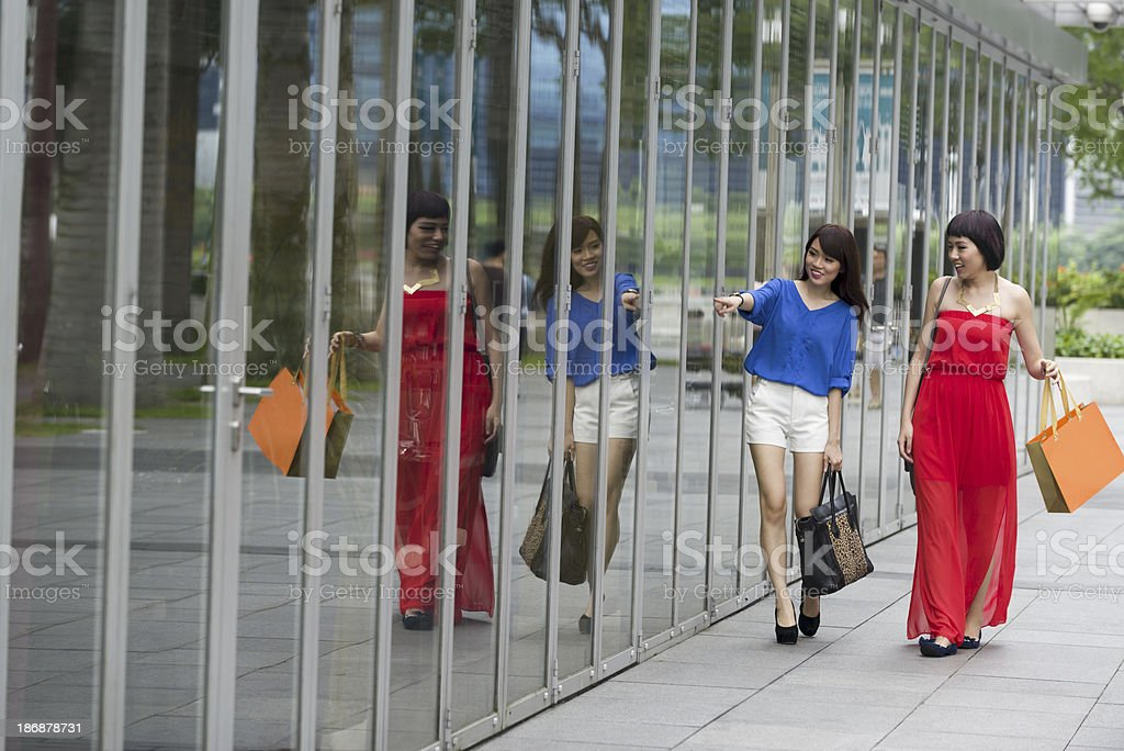 Asian Shoppers royalty-free stock photo