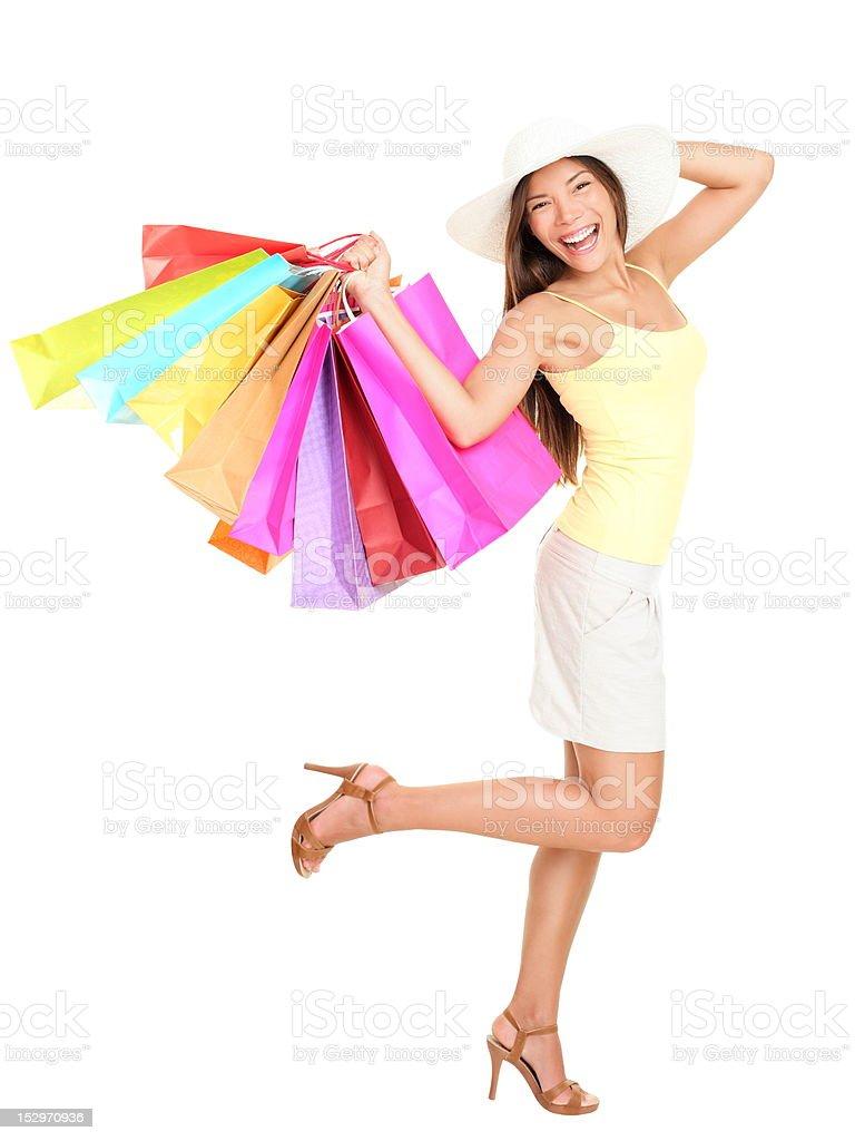 Asian Shopping woman happy royalty-free stock photo