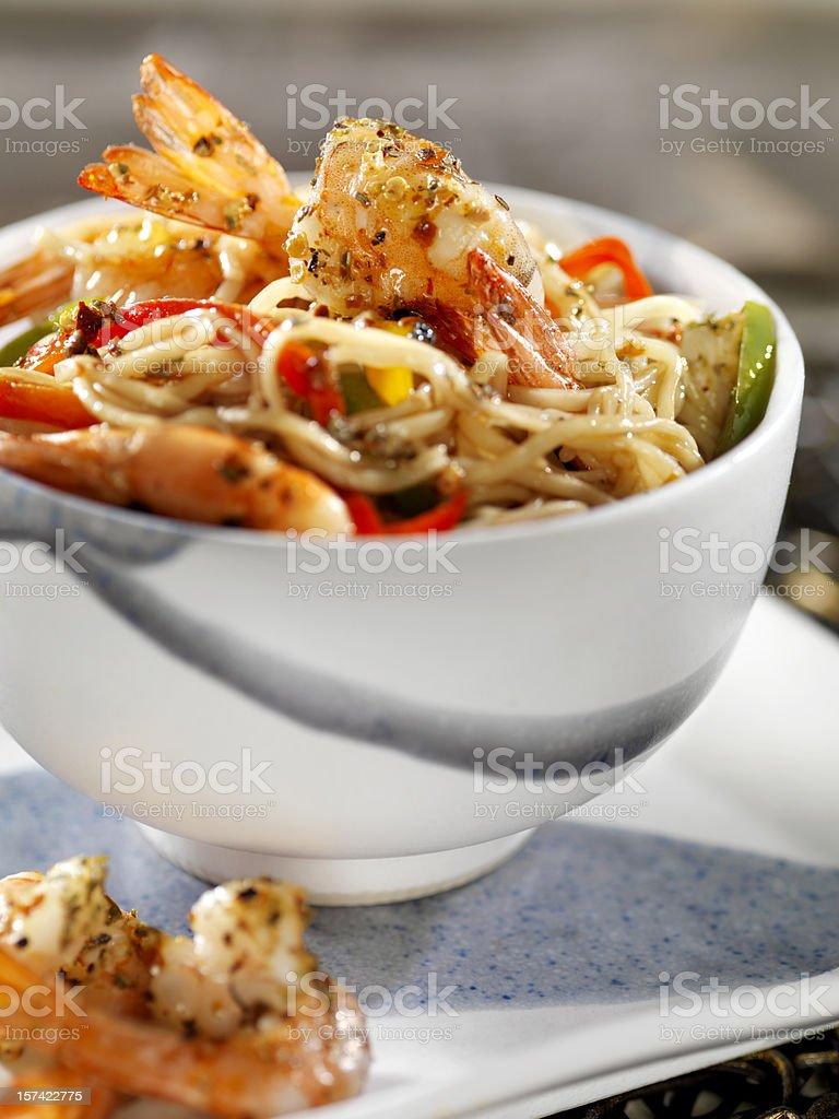 Asian Shrimp Noodles royalty-free stock photo