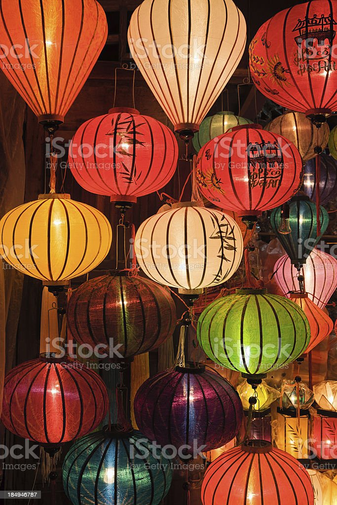Asian Silk Chinese Lanterns royalty-free stock photo