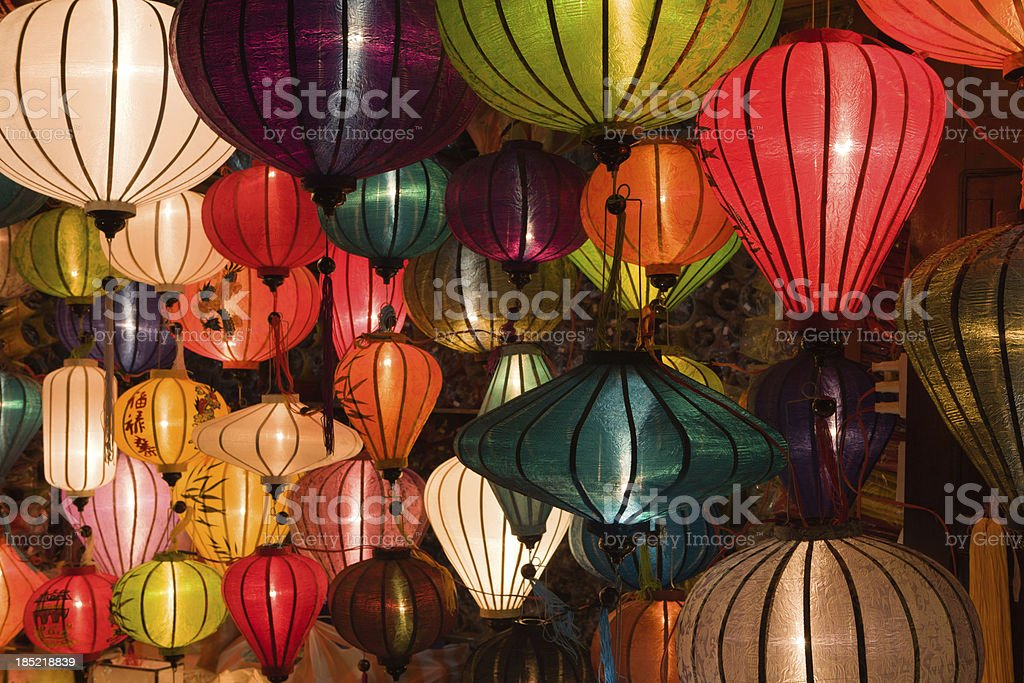 Asian Silk Chinese Lanterns stock photo