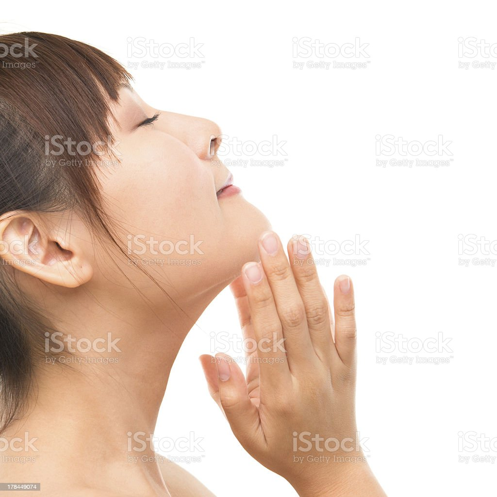 Asian skincare woman royalty-free stock photo