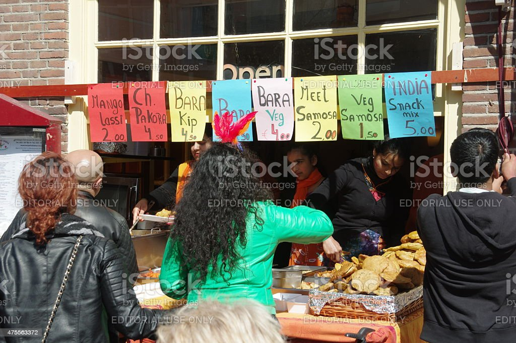 Asian Snack bar in the city stock photo