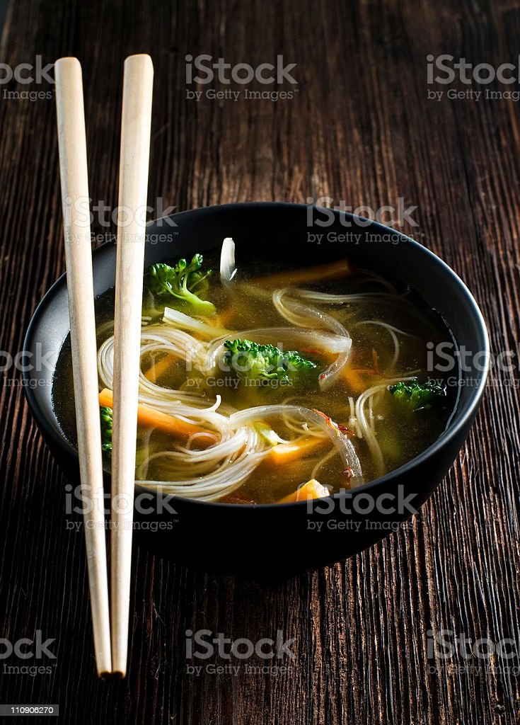 Asian soup royalty-free stock photo