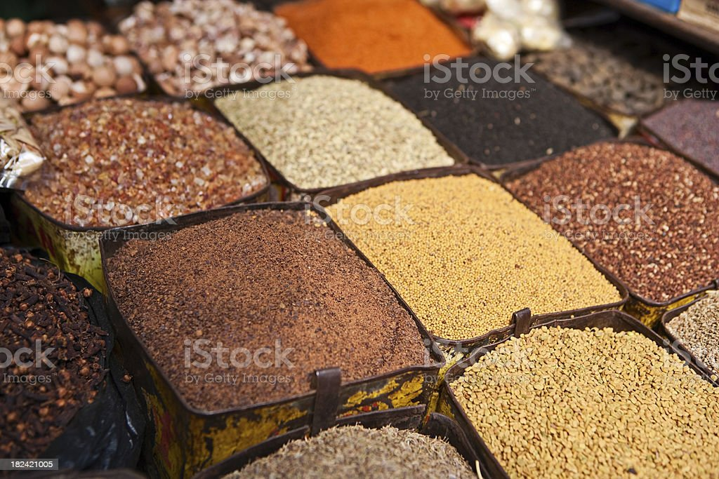 Asian spice market royalty-free stock photo