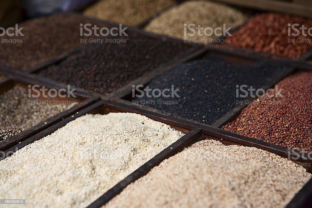 Asian spice market royalty-free stock photo