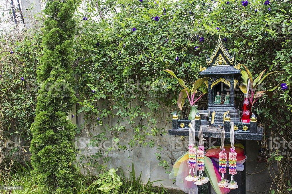 asian spirit house stock photo