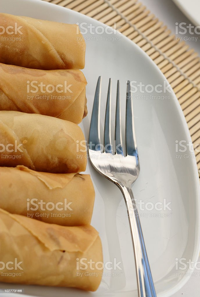 Asian spring rolls royalty-free stock photo