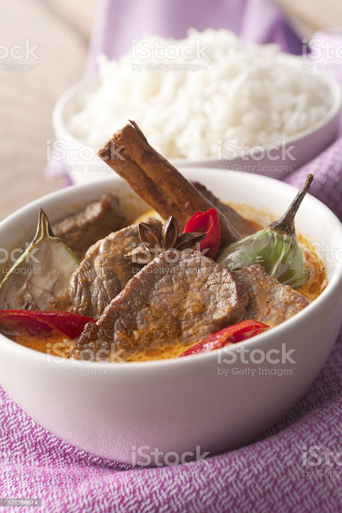 Asian Stills: Beef Curry with Cinnamon and Star Anise stock photo