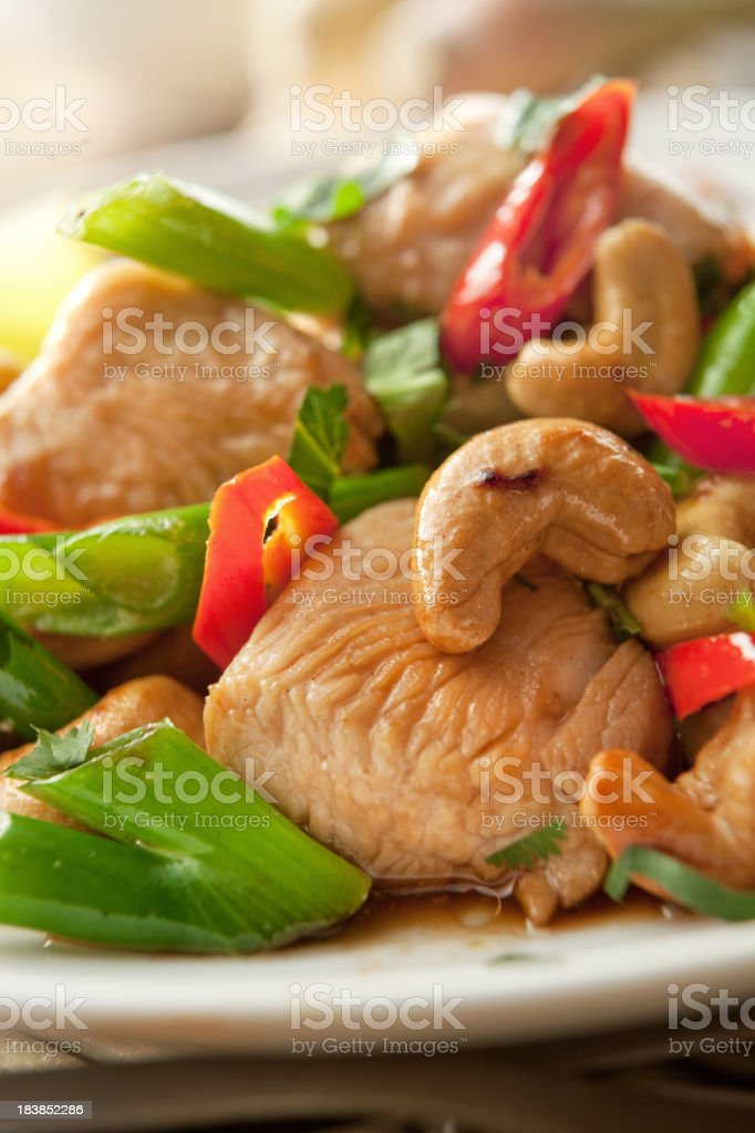 Asian Stills: Stir Fried Chicken and Cashew royalty-free stock photo