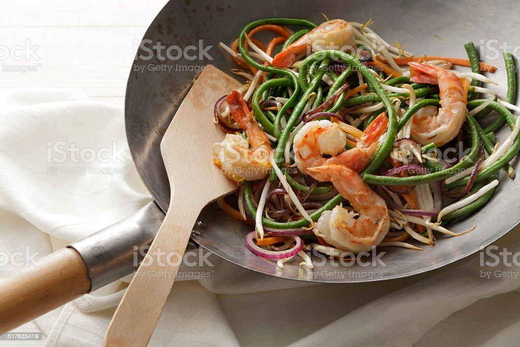 Asian Stills: Stir Fried Shrimps and Vegetables stock photo