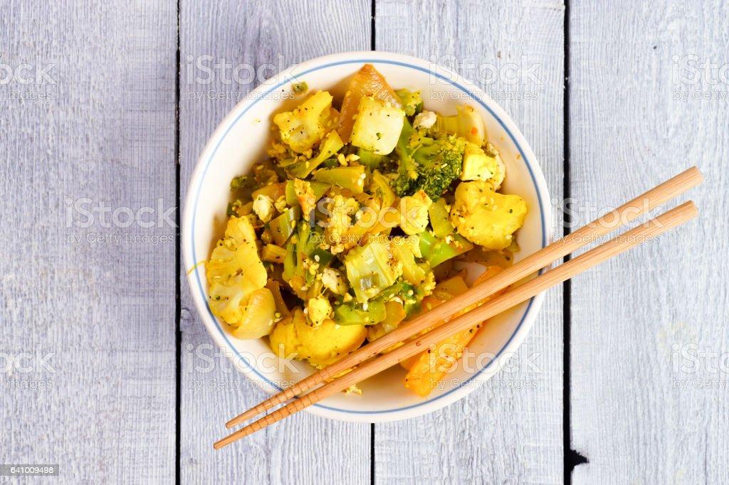 Asian Stir Fried Vegetables stock photo