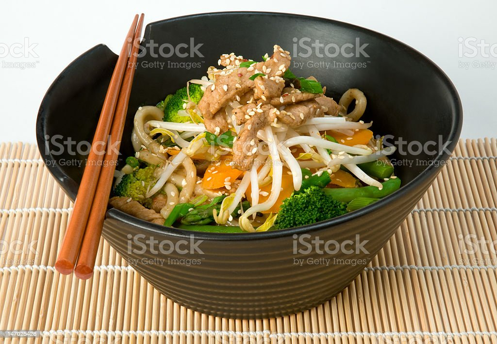 Asian Stir Fry stock photo
