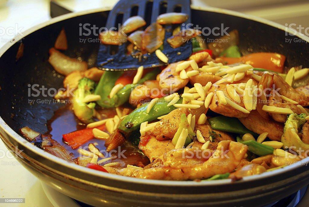 Asian stiry fry royalty-free stock photo