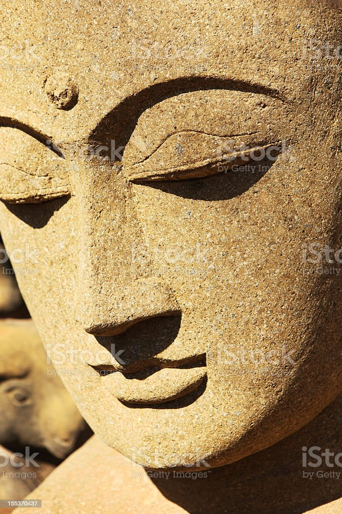 Asian Stone Statue Sculpture stock photo