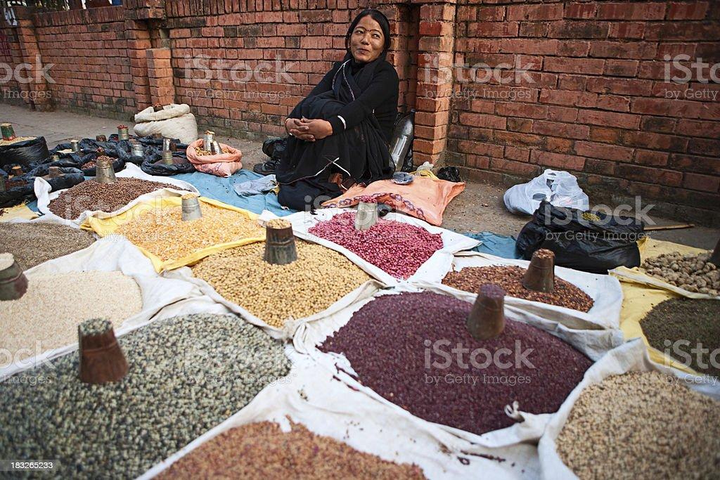 Asian street seller stock photo
