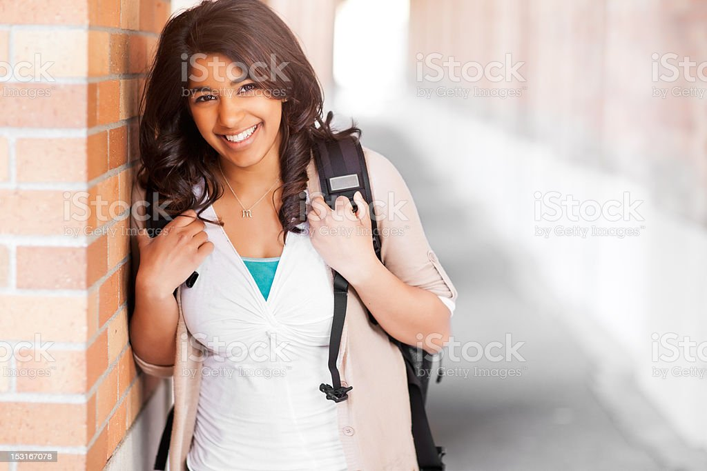 Asian student on campus royalty-free stock photo