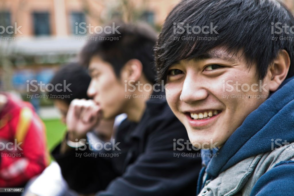 Asian students royalty-free stock photo