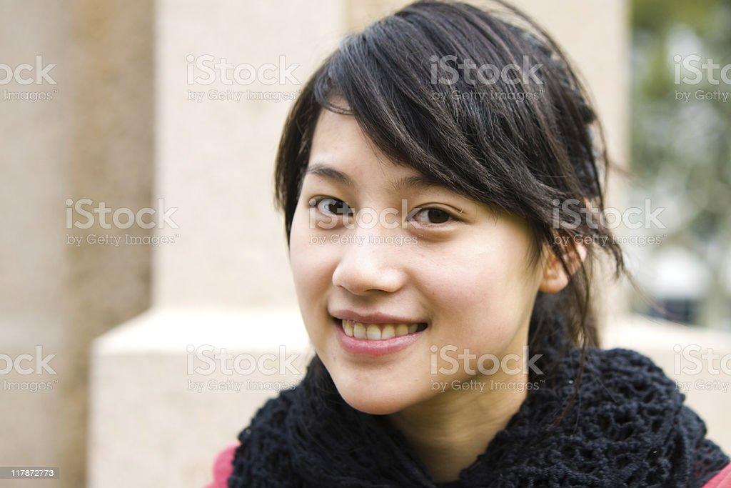 Asian students royalty-free stock photo