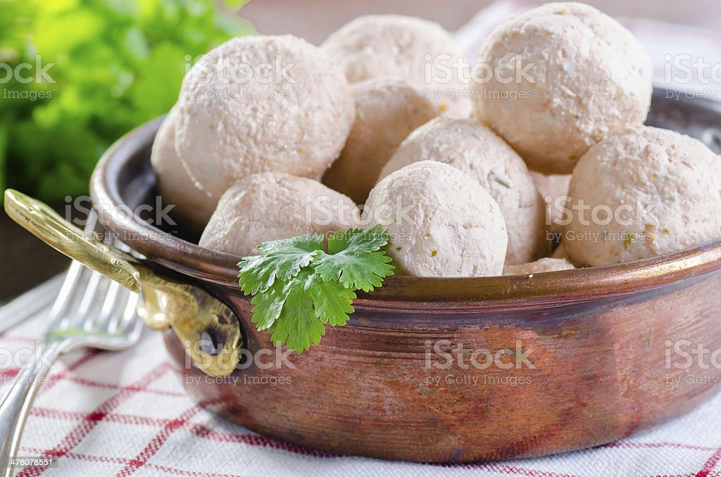 Asian style fish and prawn meatballs royalty-free stock photo