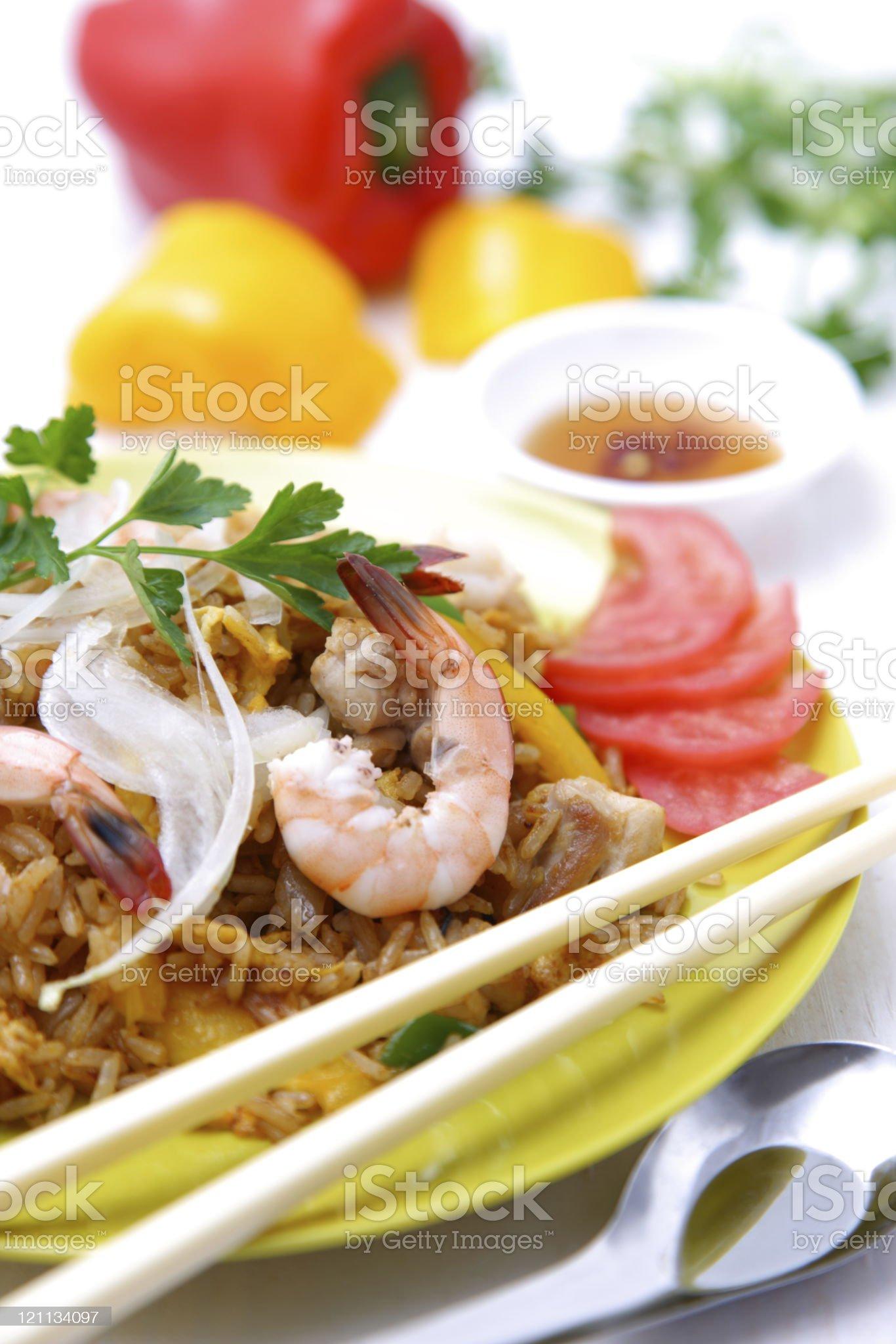 Asian style fried rice 'Nasi goreng' royalty-free stock photo