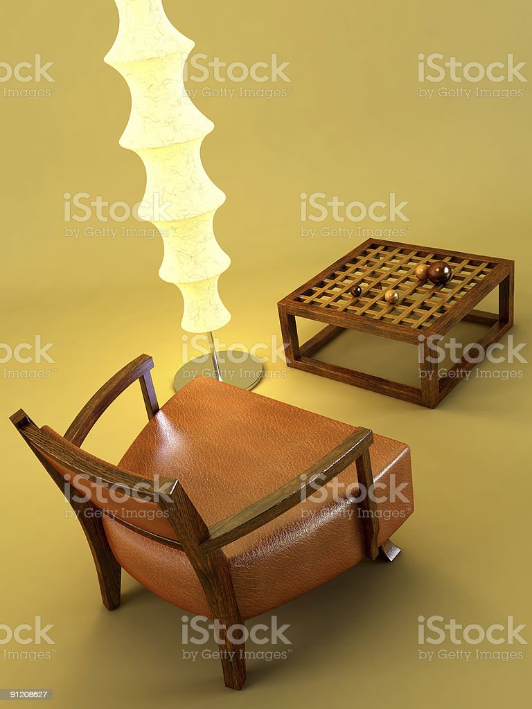 asian style lounge room royalty-free stock photo