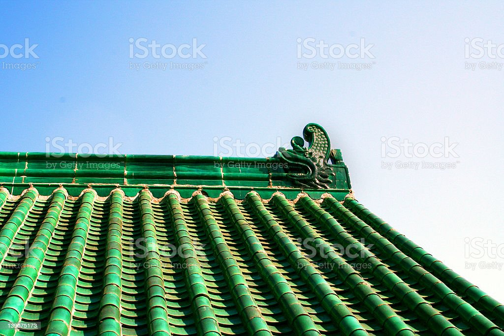 Asian Style Roof stock photo