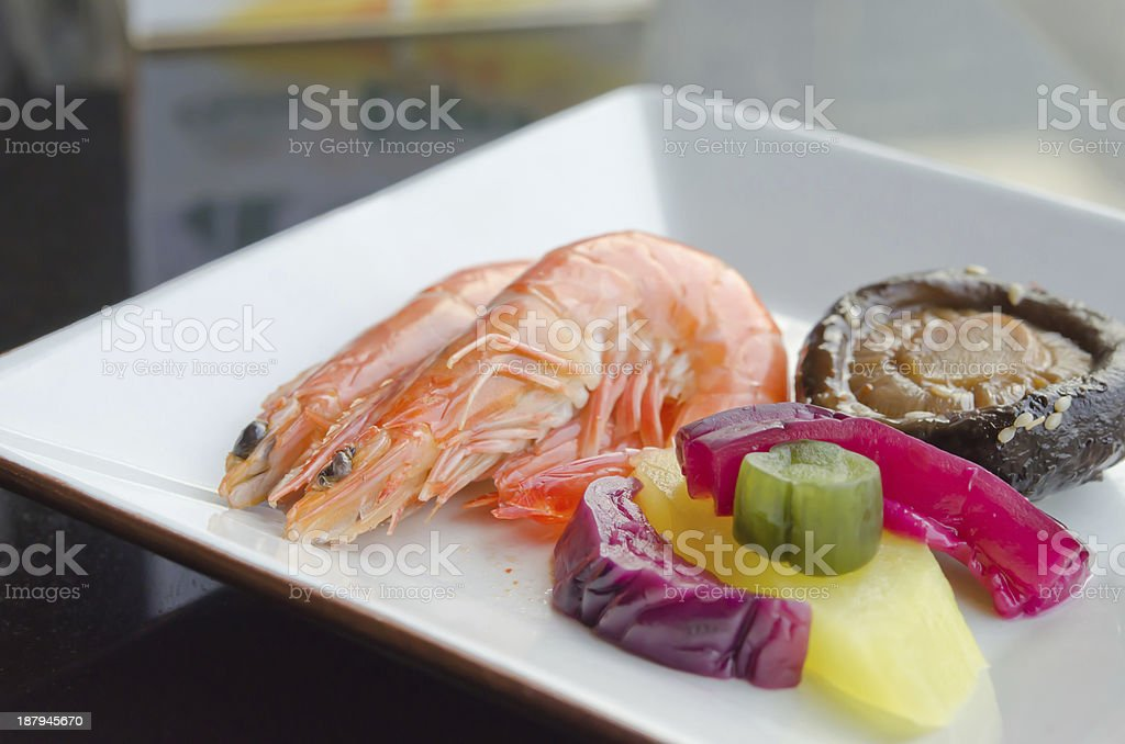 asian style seafood royalty-free stock photo